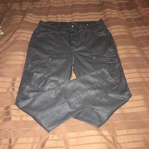 Whbm coated black skinny jeans